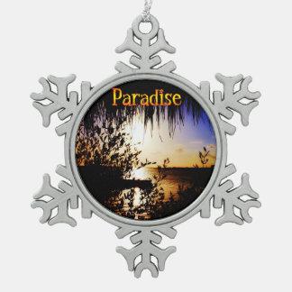 Paraíso Adorno De Peltre En Forma De Copo De Nieve