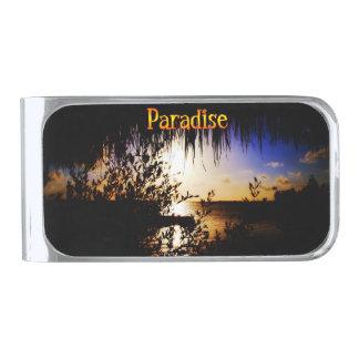 Paraíso Clip Para Billetes Plateado