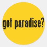 ¿paraíso conseguido? pegatinas redondas