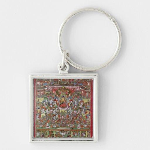 Paraíso de Amitabha Llaveros Personalizados