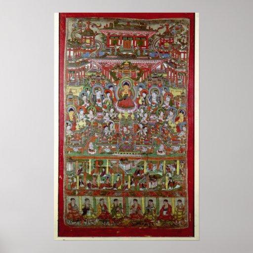 Paraíso de Amitabha Impresiones