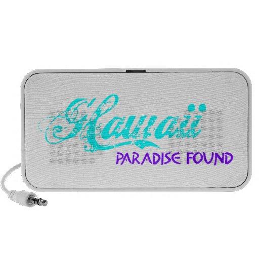 PARAÍSO DE HAWAII ENCONTRADO iPod ALTAVOCES