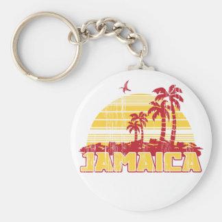 Paraíso de Jamaica Llavero Redondo Tipo Pin
