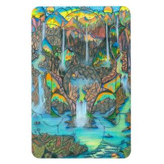 Paraíso de la cascada imanes rectangulares