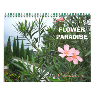 Paraíso de la flor calendarios de pared