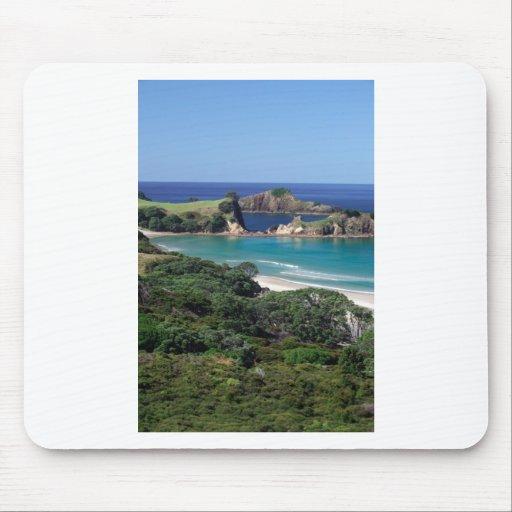 Paraíso de la isla de la barrera de la playa de Pa Alfombrillas De Raton