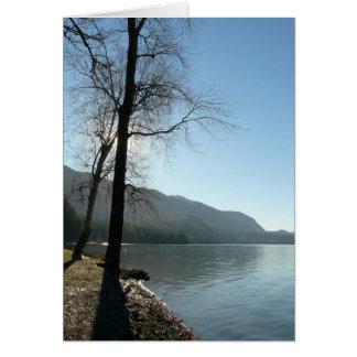 Paraíso de la orilla del lago felicitación