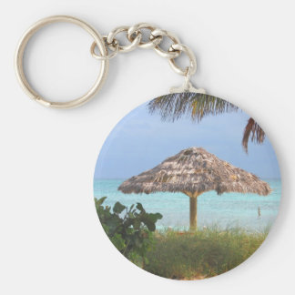 Paraíso de la playa de Bahama Llavero