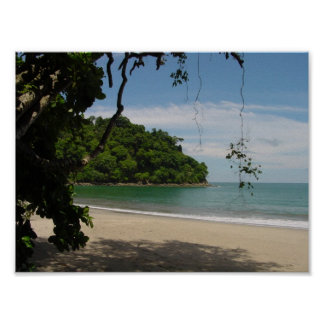 Paraíso de la playa de Costa Rica Posters