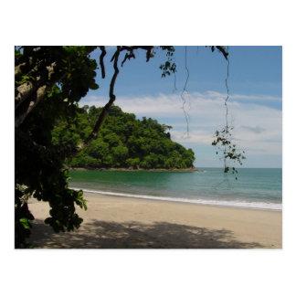 Paraíso de la playa de Costa Rica Postal