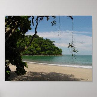 Paraíso de la playa de Costa Rica Póster