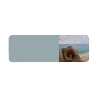 Paraíso de la playa del Seashell Etiquetas De Remite