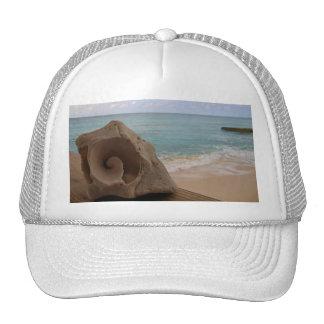 Paraíso de la playa del Seashell Gorras De Camionero