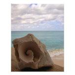 Paraíso de la playa del Seashell Invitación