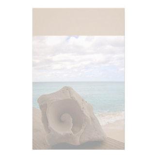 Paraíso de la playa del Seashell Papeleria De Diseño