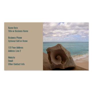 Paraíso de la playa del Seashell Plantillas De Tarjeta De Negocio