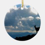 Paraíso de las cabras del cielo ornamento para arbol de navidad