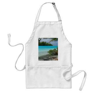 Paraíso de las vacaciones de la playa delantal