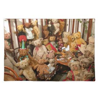 Paraíso de los colectores de los osos de peluche mantel