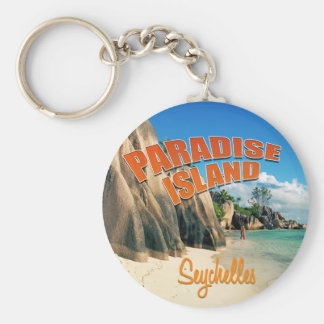 Paraíso de Seychelles Llavero