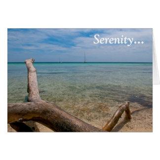 Paraíso del Caribe de la serenidad Tarjeta De Felicitación