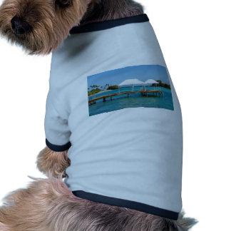 paraíso del Caribe Camiseta De Perrito