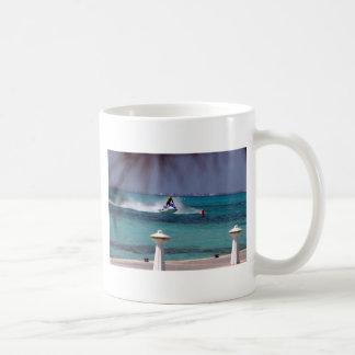 Paraíso del esquí del jet taza de café