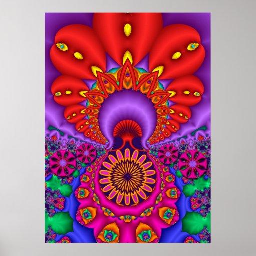 Paraíso del fractal, poster artístico del wallart