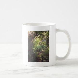 Paraíso del jardín taza básica blanca