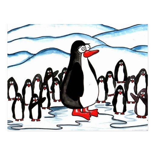 Paraíso del pingüino tarjeta postal