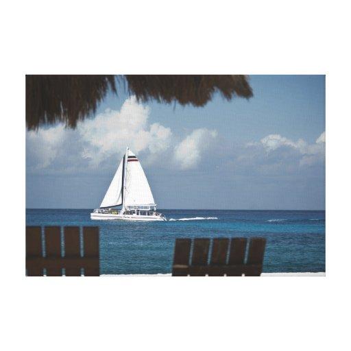Paraíso del velero impresión en tela
