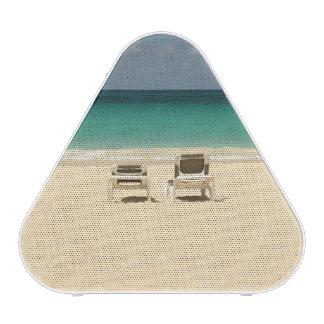 Paraíso dominicano tropical de la playa altavoz