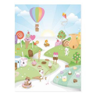 ¡Paraíso dulce del verano! Postales