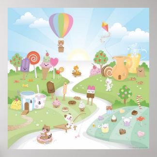 ¡Paraíso dulce del verano Poster