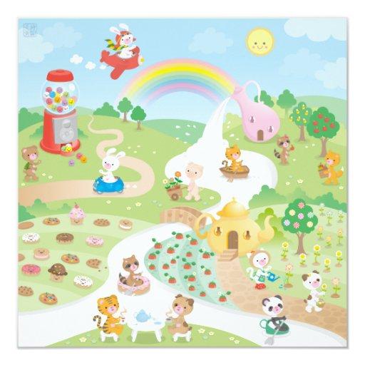 """Paraíso dulce invitación 5.25"""" x 5.25"""""""