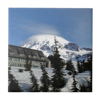 Paraíso en el Monte Rainier Azulejo Cuadrado Pequeño