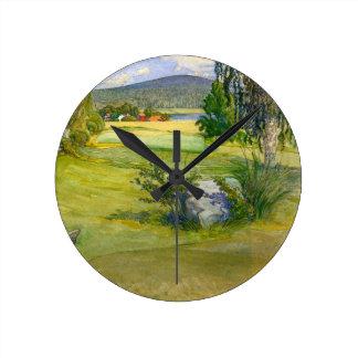 Paraíso en Suecia 1910 Reloj Redondo Mediano