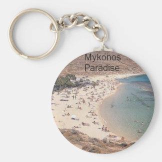 Paraíso estupendo de Grecia Mykonos (St.K) Llaveros