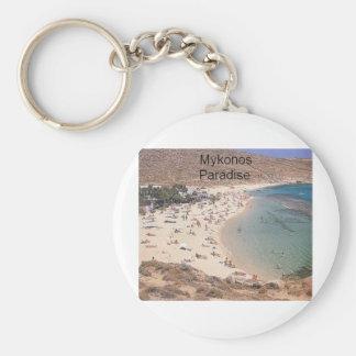 Paraíso estupendo de Grecia Mykonos (St.K) Llavero Personalizado