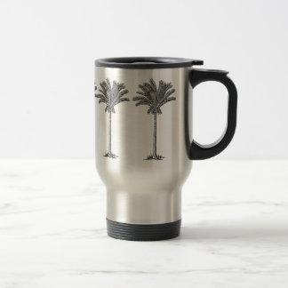 Paraíso exótico elegante de la isla de las palmera taza de viaje de acero inoxidable