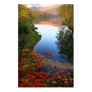 Paraíso grande del otoño de Catskills de la charca Postal