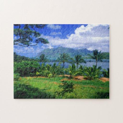 Paraíso hawaiano rompecabezas con fotos