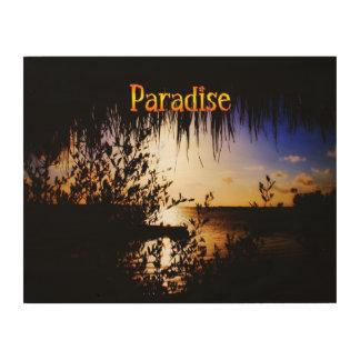 Paraíso Impresión En Madera