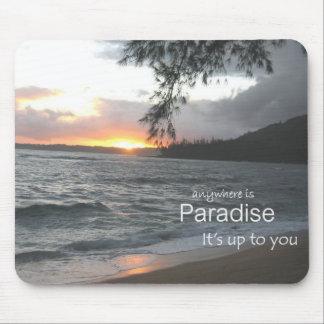 Paraíso inspirado mouse pads