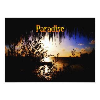"""Paraíso Invitación 5"""" X 7"""""""