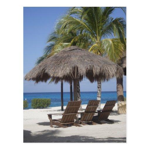 Paraíso mexicano de la playa tarjeta postal