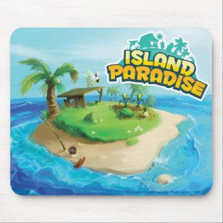 Paraíso Mousepad de la isla Tapete De Ratón