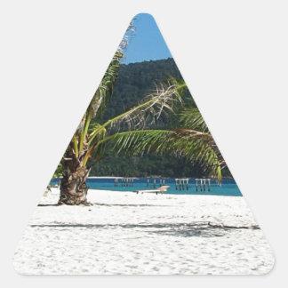 Paraíso ocultado pegatinas trianguladas