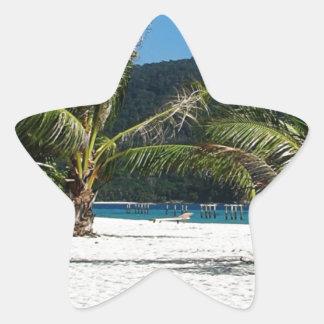 Paraíso ocultado pegatina en forma de estrella