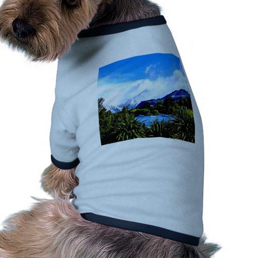 paraíso pacífico del wanaka del lago camiseta de mascota
